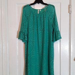 Tacera Three Quarter Bell Sleeve Dress